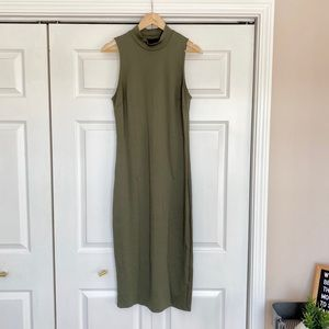 Who What Wear Olive Midi